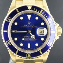 Rolex Submariner Yellow Gold Blue Dial 40MM 2003 Y-Serie MINT