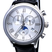 Maurice Lacroix Les Classiques Chronograph Moonphase Silver...
