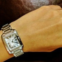 Cartier Tank Anglaise W5310022 22X30mm Square White Dial Ladies