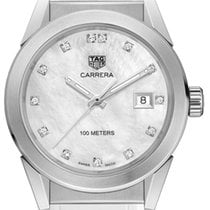 TAG Heuer Carrera Lady Staal 36mm Parelmoer