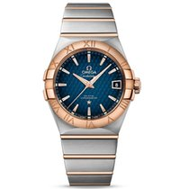 Omega 123.20.38.21.03.001 Or/Acier 2019 Constellation Men 38mm nouveau
