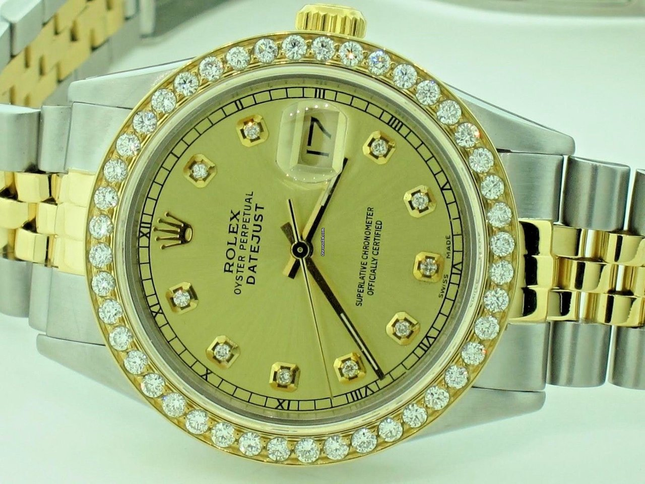 Rolex Datejust Oyster Perpetual 18K Gold Automatic Diamonds