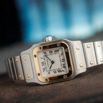 Cartier SANTOS 1567 STEEL/GOLD QUARTZ/BOX&PAPERS