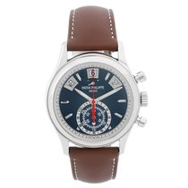 Patek Philippe Flyback Chronograph Men's 18k White Gold Watch...