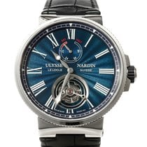 Ulysse Nardin Marine Tourbillon Steel 43mm Blue