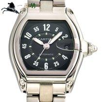 까르띠에 스틸 자동 검정색 44mm 중고시계 로드스터