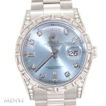 Rolex Day-Date 36 Platine 36mm Bleu