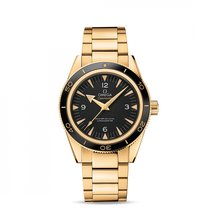 Omega Yellow gold Automatic Black 41mm new Seamaster 300