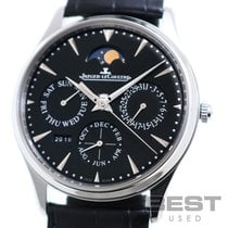 Jaeger-LeCoultre Master Ultra Thin Perpetual Otel 38mm Negru