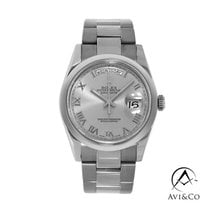 Rolex Day-Date 36 White gold 36mm Silver Roman numerals United States of America, New York, New York