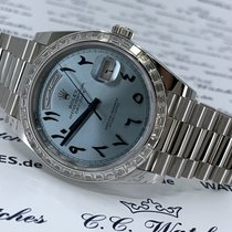 Rolex Day-Date 40 pre-owned 40mm Blue Platinum