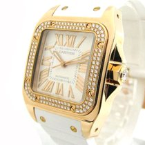 Cartier Santos 100 Rose gold 38mm White Roman numerals United States of America, New York, Greenvale
