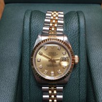 Rolex Ladies Steel & 18t Gold Datejust, Original Diamond Dial