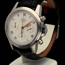 GUB Glashütte Senator Chronograph Steel White Roman Dial 40 mm...