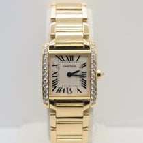 Cartier Tank Française Lay 18k Yellow Gold Factory Diamonds