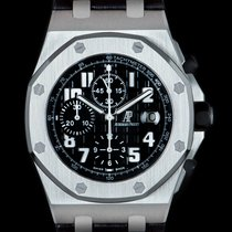Audemars Piguet Royal Oak Offshore Chronograph pre-owned 42mm Black Chronograph Tachymeter Leather