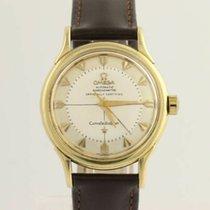 Omega Vintage Omega Constellation Watch Pie Pan 18K Gold...