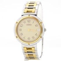 Hermès Clipper Gold/Stahl 33mm Gold Arabisch