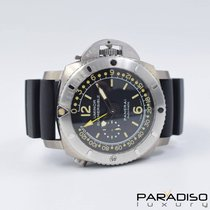 Panerai Luminor Submersible 1950 Depth Gauge Titanium 47mm Black