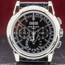 Patek Philippe Perpetual Calendar Chronograph Platino 40mm Negro Árabes