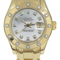 Rolex Lady-Datejust Pearlmaster Or jaune 29mm Nacre