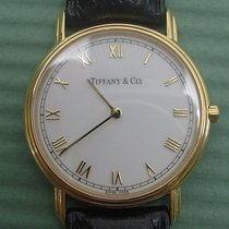 Tiffany Gult gull Kvarts Tiffany and Co 18K solid gold mans wristwatch brukt