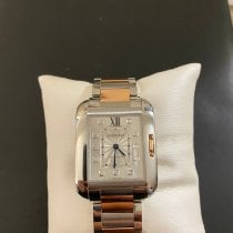 Cartier Tank Anglaise Gold/Stahl Silber