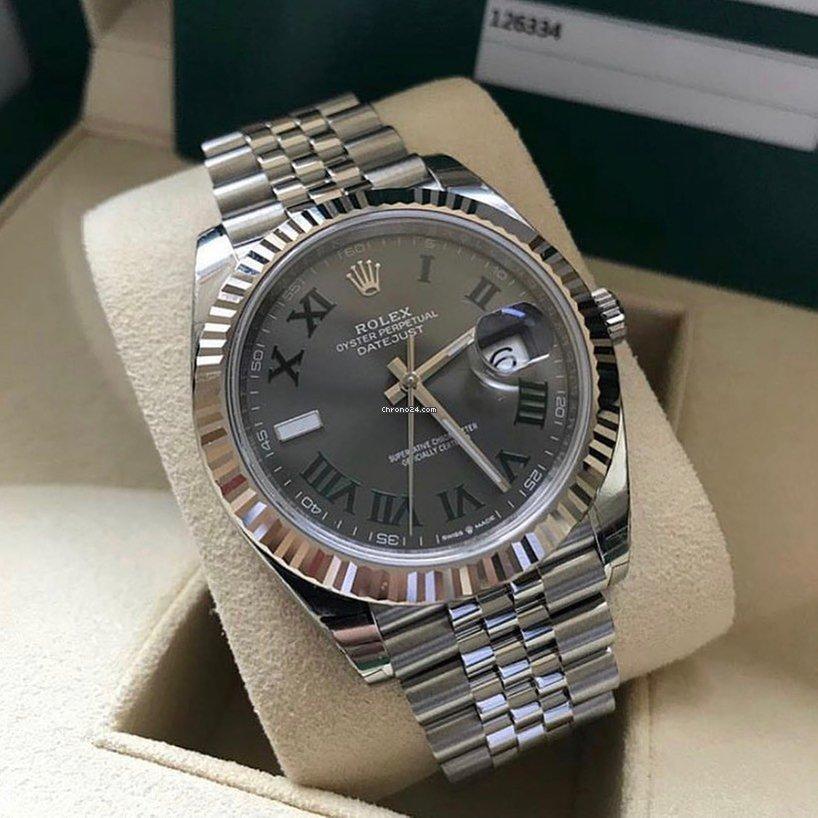 Rolex Datejust 41 126334 Wimbledon Slate Dial Jubilee Unworn