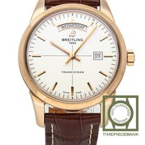 Breitling Transocean Day & Date Red gold 43mm Silver