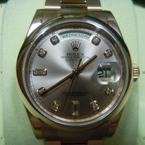 Rolex Day Date, Ref. 118205 - rosa Diamant ZB/Oysterband