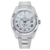 Rolex SKY-DWELLER 42mm 18K White Gold Watch 326939