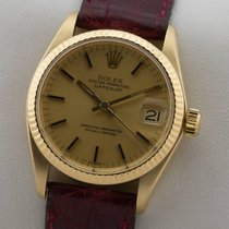 Rolex OYSTER PERPETUAL DATEJUST MEDIUM MIDSIZE 18K GOLD GELBGOLD