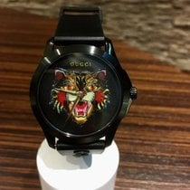 Gucci G-Timeless YA1264021  - Rubber strap - Tiger dial - 38mm