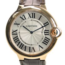 Cartier Ballon Bleu 18k Rose Gold Silvery White Manual Wind...