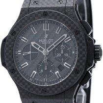 ウブロ (Hublot) Big  Bang All Black Carbon Chronograph Mens Watch...