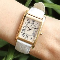 Cyma Ladies 18K Gold Wrist Watch Great Present Tank Shape Lady...