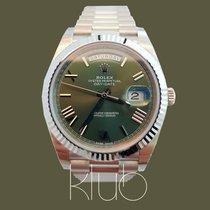 Rolex Day-Date 40 novo 40mm Ouro branco