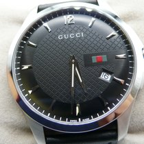 Gucci Steel 40mm Quartz YA126304 new