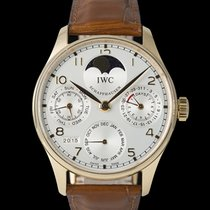 IWC Portuguese Perpetual Calendar pre-owned 42mm Red gold