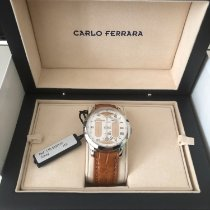 Carlo Ferrara Steel 39mm Manual winding 110.362/110 new