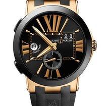 Ulysse Nardin Rose gold Automatic Black new Executive Dual Time
