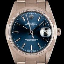 Rolex Oyster Perpetual Date Aço 34mm Azul