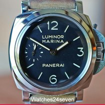 Panerai Luminor Marina 1950 3 Days Acero 47mm Negro Árabes