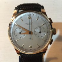 Universal Genève Yellow gold Manual winding Silver 37mm pre-owned Compax