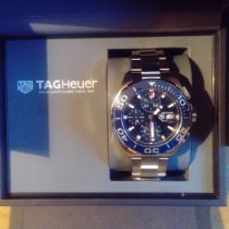 태그호이어 은 자동 파란색 43mm 신규 아쿠아레이서 300M