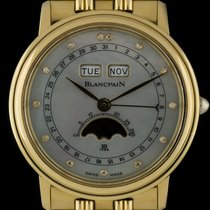 Blancpain 18k Y/G MOP Diamond Dial Triple Calendar Moonphase...