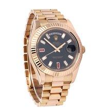 Rolex Day-Date II 218235-BLKDFP 2014 occasion