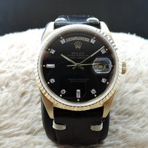 Rolex DAY-DATE 18038 18K Gold with Original Glossy Black...