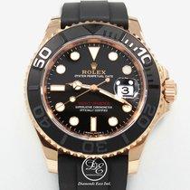 Rolex Yacht Master 116655 Bksrs 18k Everose Gold 40mm Watch...