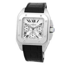 Cartier Stainless Steel Santos 100 XL Chronograph W20090X8 Box...